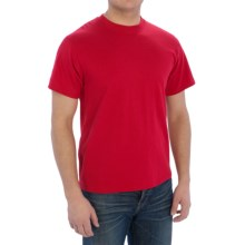 Cotton-Poly T-Shirt - Short Sleeve (For Men) in Red - 2nds
