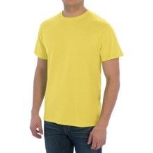 Cotton-Poly T-Shirt - Short Sleeve (For Men) in Yellow - 2nds