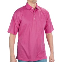 Cotton-Polyester Pocket Polo Shirt - Short Sleeve (For Men) in Fuschia - Closeouts