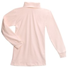 Cotton-Rich Turtleneck - Long Sleeve (For Youth) in Light Pink - Closeouts