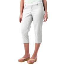 Cotton Sateen Capris (For Women) in White - 2nds