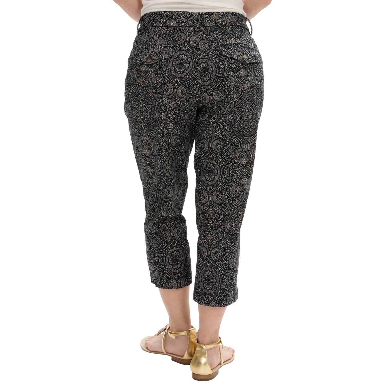 Unique Alfred Dunner Womenu0026#39;s Elastic Waist Cotton Capri Pants - Walmart.com