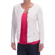 Cotton Slub Cardigan Shirt - Long Sleeve (For Women) in White - 2nds