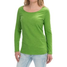 Cotton Slub Knit Shirt - Long Sleeve (For Women) in Lime - 2nds