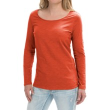 Cotton Slub Knit Shirt - Long Sleeve (For Women) in Tomato - 2nds