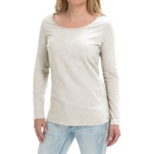 Cotton Slub Knit Shirt - Long Sleeve (For Women) in White - 2nds