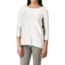 Cotton Slub Shirt - 3/4 Sleeve (For Women) in White - 2nds