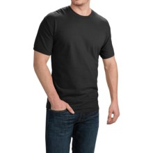 Cotton T-Shirt - Short Sleeve (For Men and Women) in Black - 2nds