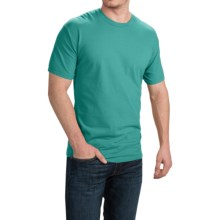 Cotton T-Shirt - Short Sleeve (For Men and Women) in Blue Green - 2nds