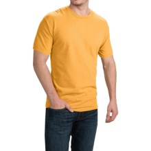 Cotton T-Shirt - Short Sleeve (For Men and Women) in Gold - 2nds