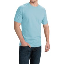 Cotton T-Shirt - Short Sleeve (For Men and Women) in Light Blue - 2nds