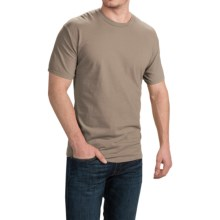 Cotton T-Shirt - Short Sleeve (For Men and Women) in Light Brown - 2nds