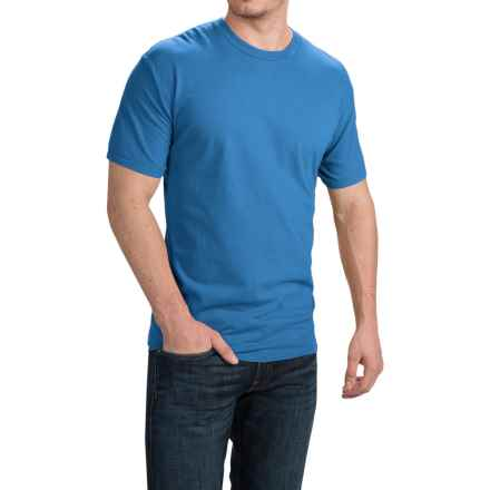 Cotton T-Shirt - Short Sleeve (For Men and Women) in Medium Blue - 2nds