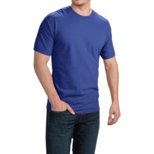 Cotton T-Shirt - Short Sleeve (For Men and Women) in Royal - 2nds