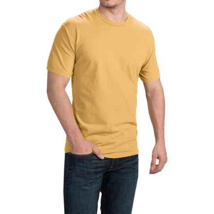 Cotton T-Shirt - Short Sleeve (For Men and Women) in Wheat - 2nds