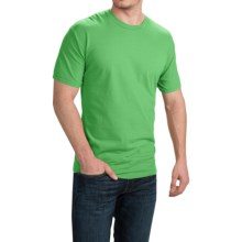 Cotton T-Shirt - Short Sleeve (For Men and Women) in Yellow Green - 2nds