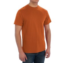 Cotton T-Shirt - Short Sleeve (For Men) in Burnt Orange - 2nds