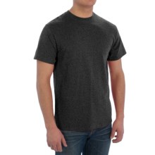 Cotton T-Shirt - Short Sleeve (For Men) in Charcoal Heather - 2nds