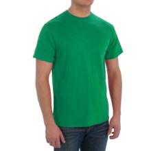 Cotton T-Shirt - Short Sleeve (For Men) in Medium Green - 2nds