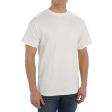 Cotton T-Shirt - Short Sleeve (For Men) in Natural - 2nds