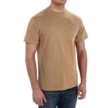 Cotton T-Shirt - Short Sleeve (For Men) in Tan - 2nds