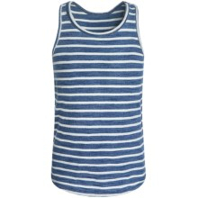 Cotton Tank Top (For Little and Big Girls) in Indigo Stripe - 2nds