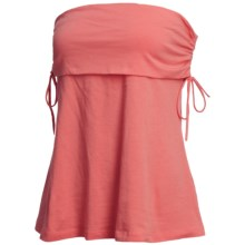 Cotton Tube Top - Side Ruching (For Women) in Coral - 2nds