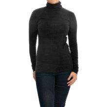 Cotton Turtleneck - Long Sleeve (For Women) in Black - 2nds