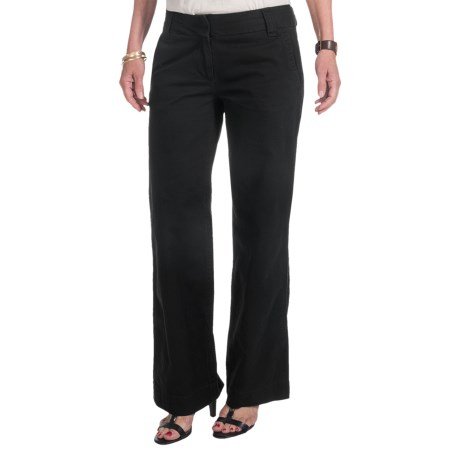 Cotton Twill Pants - Bootcut (For Women) in Black