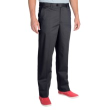 Cotton Twill Pants - Flat Front (For Men) in Black - Closeouts