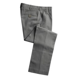 Cotton Twill Pants - Flat Front (For Men) in Navy