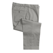 Cotton Twill Pants - Flat Front (For Men) in Grey - 2nds