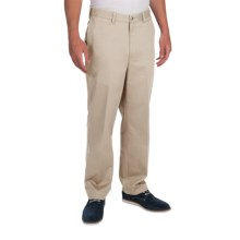 Cotton Twill Pants - Flat Front (For Men) in Ivory - 2nds