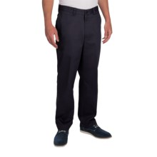 Cotton Twill Pants - Flat Front (For Men) in Navy - 2nds