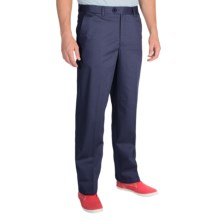 Cotton Twill Pants - Flat Front (For Men) in Navy - Closeouts