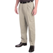 Cotton Twill Pants - Pleats (For Men) in Ivory - 2nds