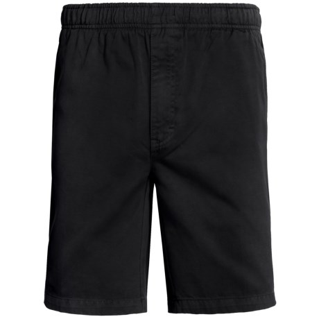 Cotton Twill Shorts (For Men) in Black