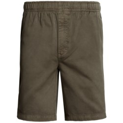 Cotton Twill Shorts (For Men) in Brown