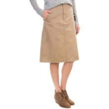 Cotton Twill Skirt - Flat Front (For Women) in Khaki - 2nds