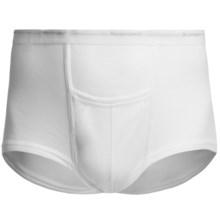 Cotton Underwear Briefs - 2-Pack (For Big Men) in White - 2nds