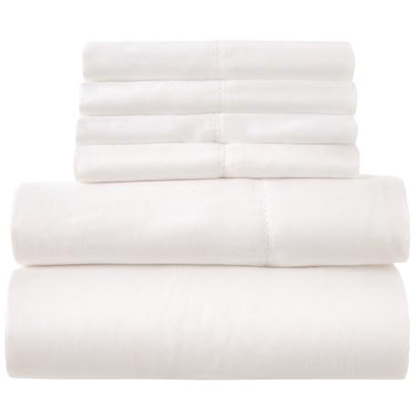 Image of Cotton White Sheet Set - King, 400 TC