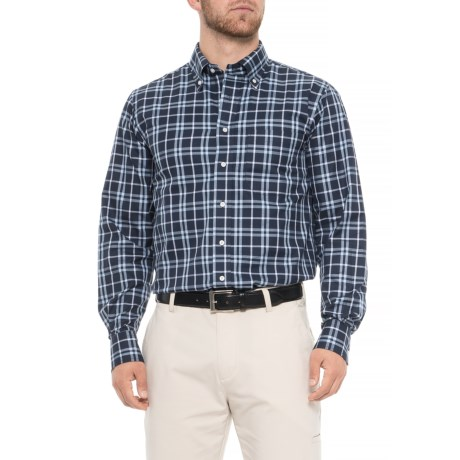 Image of Cotton Woven Sport Shirt - Long Sleeve (For Men)