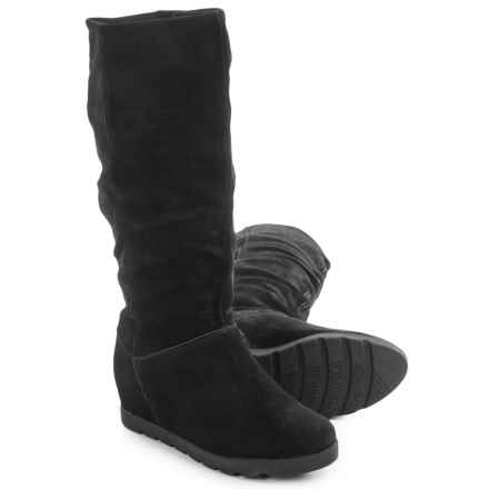 Cougar Array Tall Suede Boots - Waterproof, Hidden Wedge (For Women) in Black - Closeouts