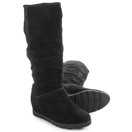 Cougar Array Tall Suede Boots - Waterproof, Hidden Wedge (For Women) in Black