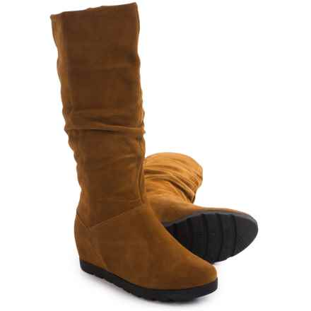 Cougar Array Tall Suede Boots - Waterproof, Hidden Wedge (For Women) in Oak - Closeouts