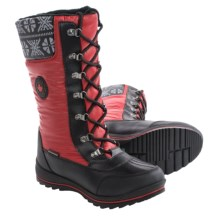 Cougar Beany Snow Boots - Waterproof (For Women) in Red - Closeouts