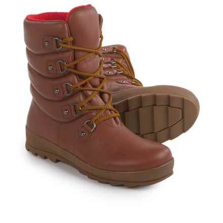 Cougar Bounty Pillow Leather Boots - Waterproof, Fleece Lined (For Women) in Rust - Closeouts