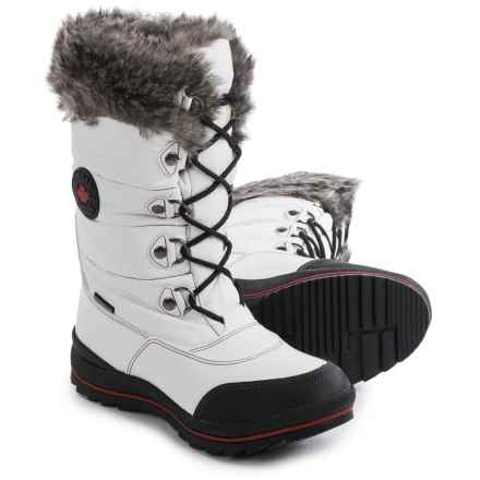 Cougar Cranbrook Sleek Snow Boots - Waterproof (For Women) in White - Closeouts