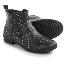 Cougar Royale Rain Ankle Boots - Waterproof (For Women) in Black Polka Dot - Closeouts