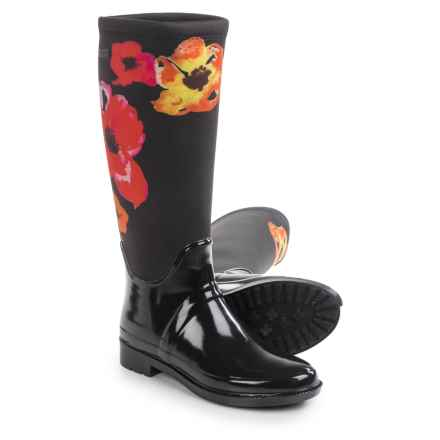 Cougar Talon Rain Boots - Waterproof (For Women) in Black Flower Print - Closeouts
